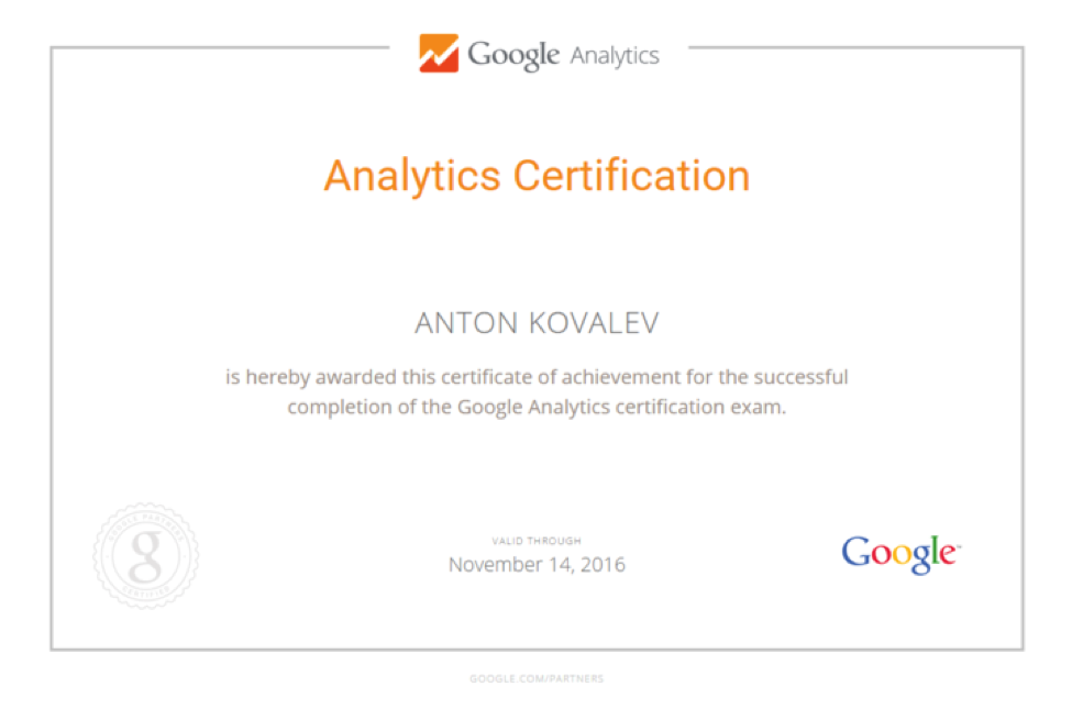 3 Google Analytics Certified Specialists On Board Of Im Action Team